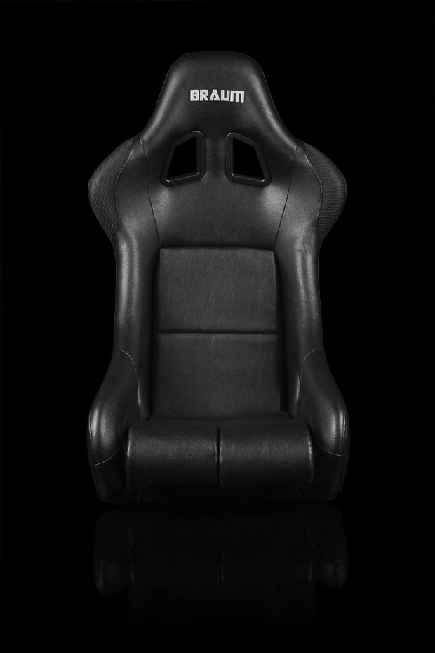 Braum FIA Approved Falcon Series Fixed Back Racing Seat - Black Leatherette