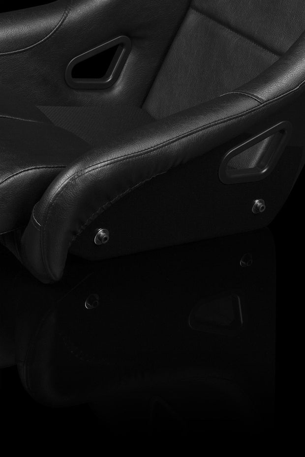 Braum FIA Approved Falcon Series Fixed Back Racing Seat - Black Leatherette - Lowered Lifestyle
