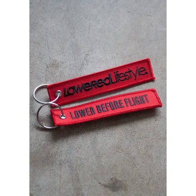 Flight Tag - Red and Black