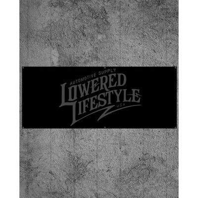 Garage Banner – Signature Logo - Black and Grey