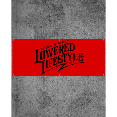 Garage Banner – Signature Logo - Red and Black