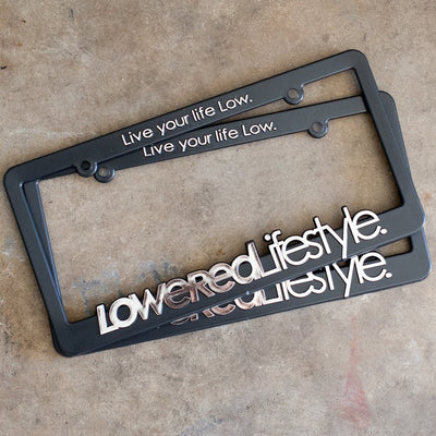 License Plate Frame with OG Logo - Chrome