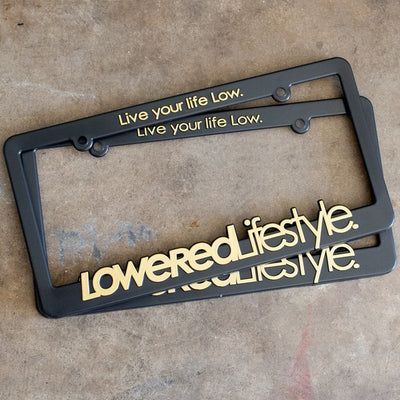 License Plate Frame with OG Logo - Gold