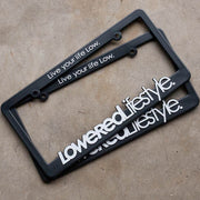 License Plate Frame with OG Logo - White