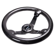 NRG Steering Wheel - Carbon Fiber 350mm deep dish - Lowered Lifestyle