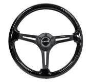 NRG Steering Wheel - Reinforced Wood 350mm with black paint - Lowered Lifestyle