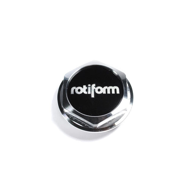 Rotiform Billet Hex Center Cap (AeroDisc) - Machined Silver - Lowered Lifestyle