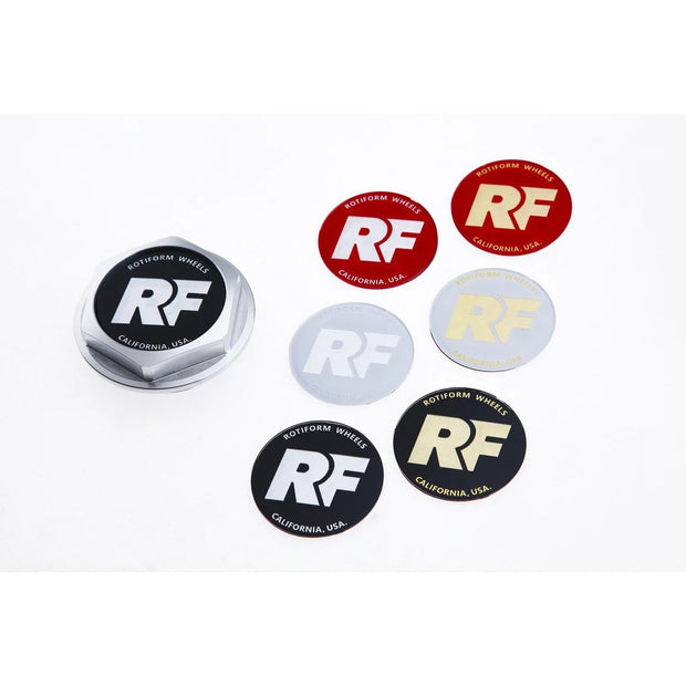 "Rotiform Hex Center Cap Insert - ""RF"" Logo"
