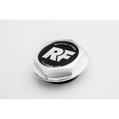 "Rotiform Hex Center Cap with ""RF"" logo - Machined Silver"