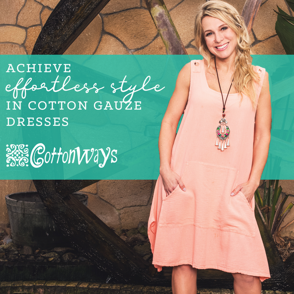Achieve Effortless Style in Cotton Gauze Dresses