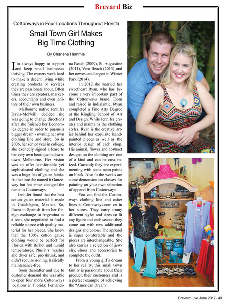 FEATURED in Brevard Live Magazine