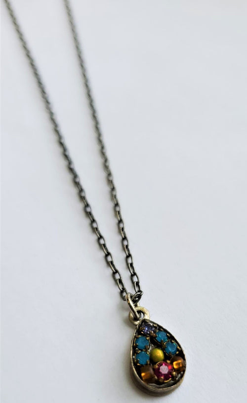 Firefly Dainty Teardrop Swarovski Crystal Necklace