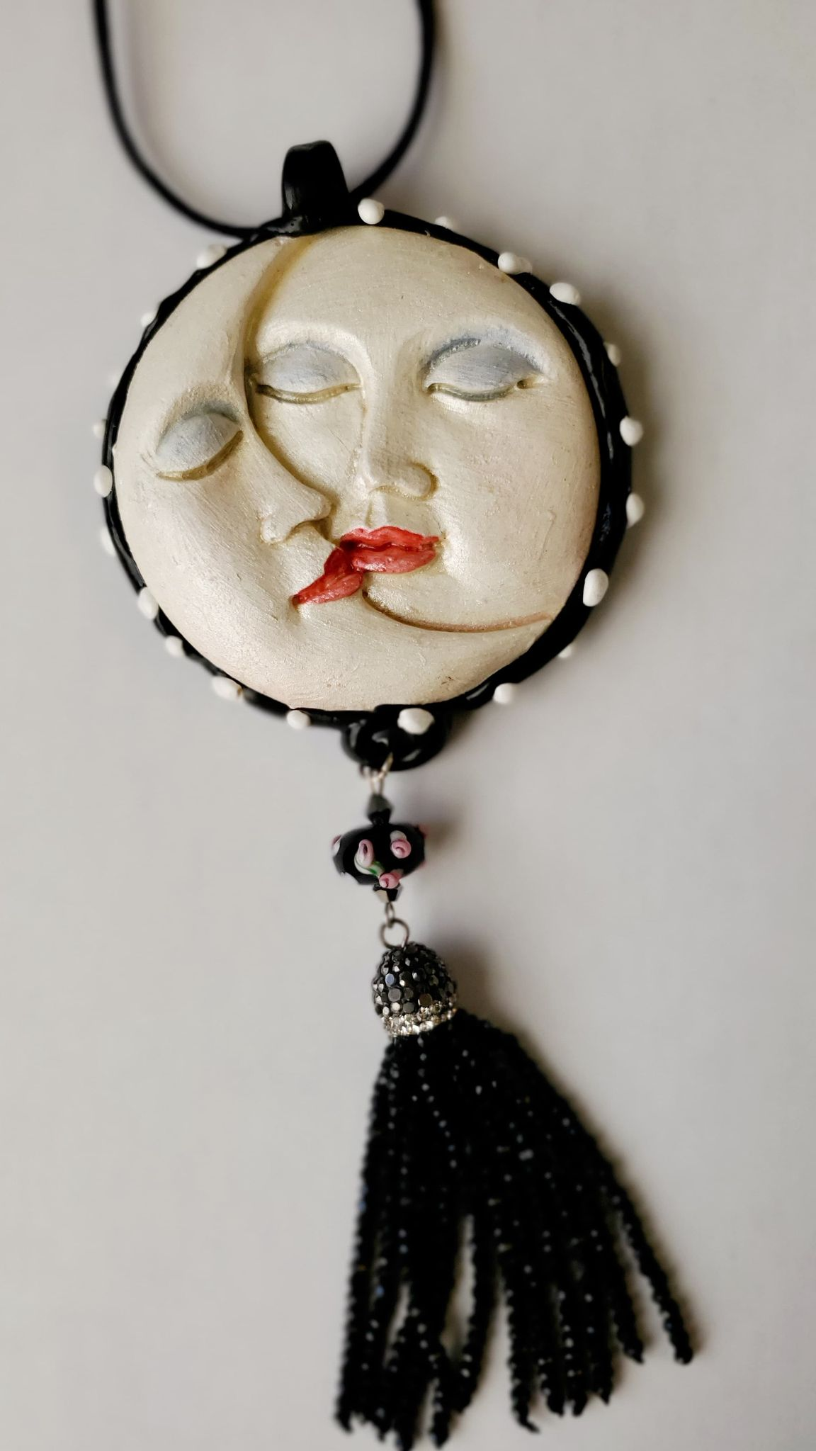 Susan Sorrentino's Hand-Made Man on the Moon Necklace