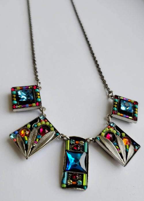 Firefly Luxe 5-Piece Swarovski Crystal Necklace