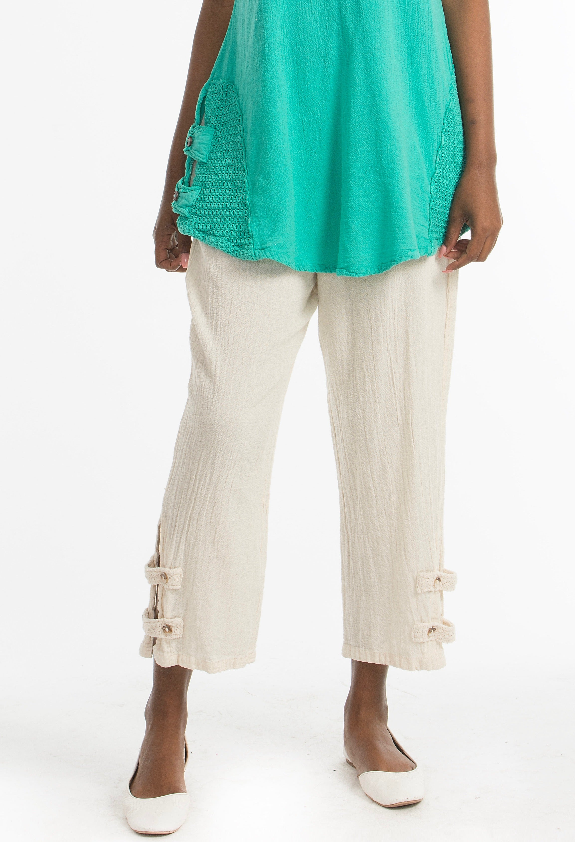 Serena Pant 100% Cotton Gauze Floods with POCKETS!