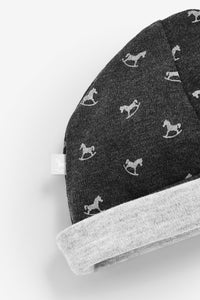 Rocking Horse Hat - charcoal and grey