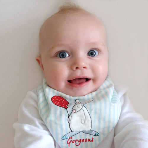 Rufus Rabbit Baby Boy bib