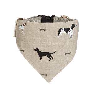Woof dog collar-neckerchief