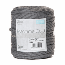 Load image into Gallery viewer, Macrame cord 87mtrs x 4mm Slate