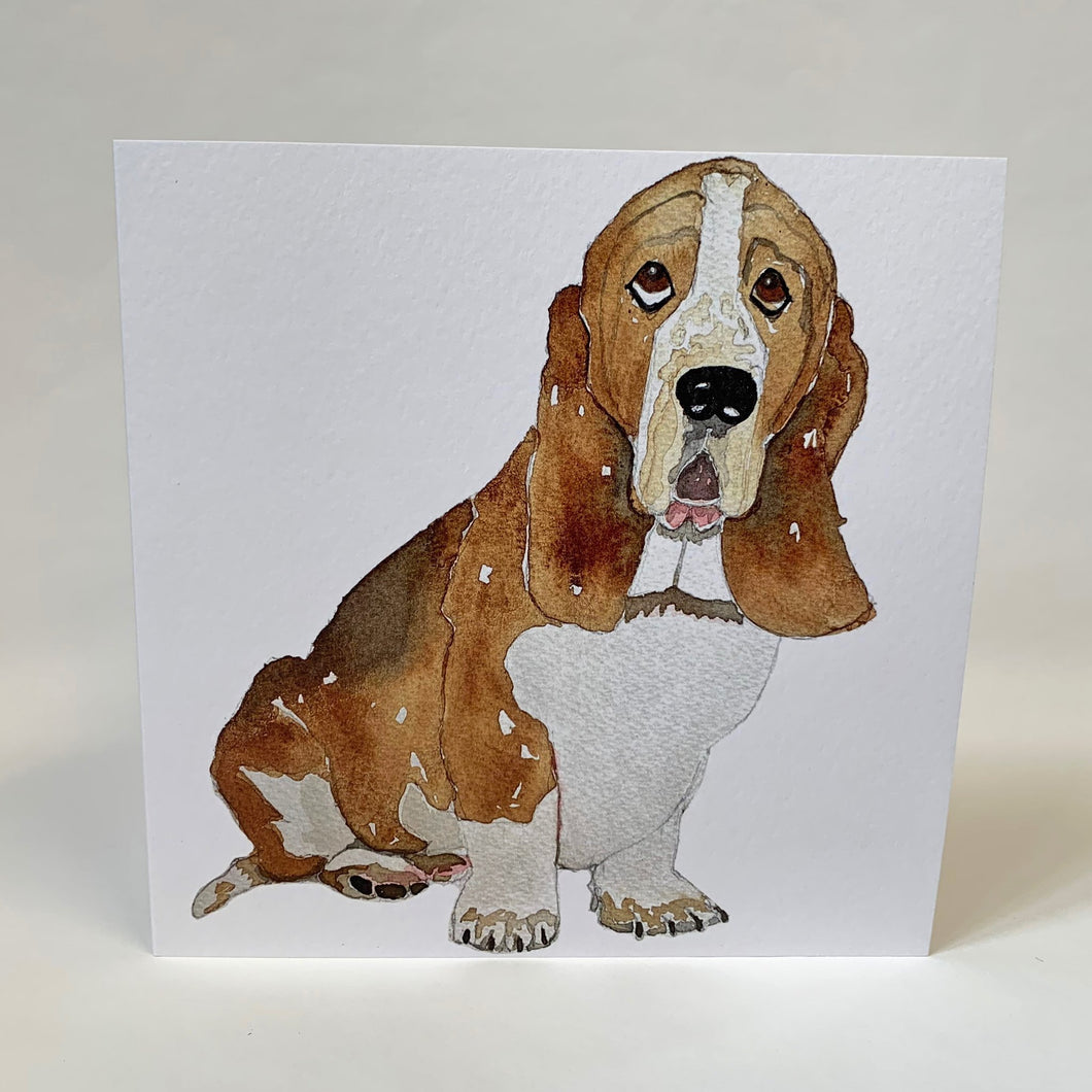 Basset Hound Design Greeting Card