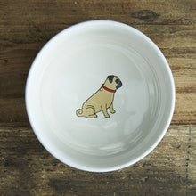 Load image into Gallery viewer, Pug dog bowl