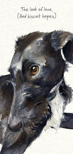 Lurcher Greeting Card- Look for Love