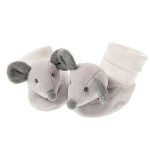 Pip the Mouse Booties in Organza Bag