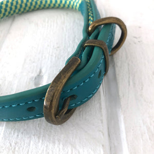 Quality Green Dog Collar by The Little dog Laughed Co