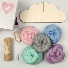 Load image into Gallery viewer, Cloud Mobile - Needle Felting Kit