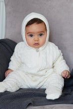 Load image into Gallery viewer, Cream lined Knitted Pramsuit