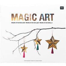 Load image into Gallery viewer, Rico Magic Art Metallic stars craft set
