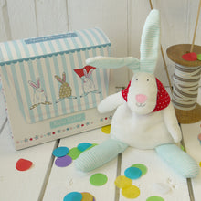 Load image into Gallery viewer, Rufus Rabbit Baby boy beanie and gift bag