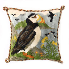 Load image into Gallery viewer, Puffin Tapestry by Elizabeth Bradley
