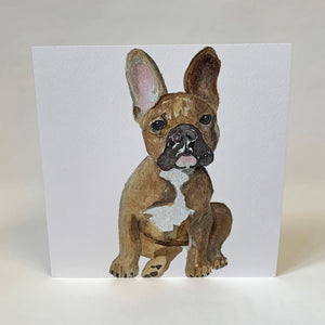 French Bull Dog Design Greeting Card