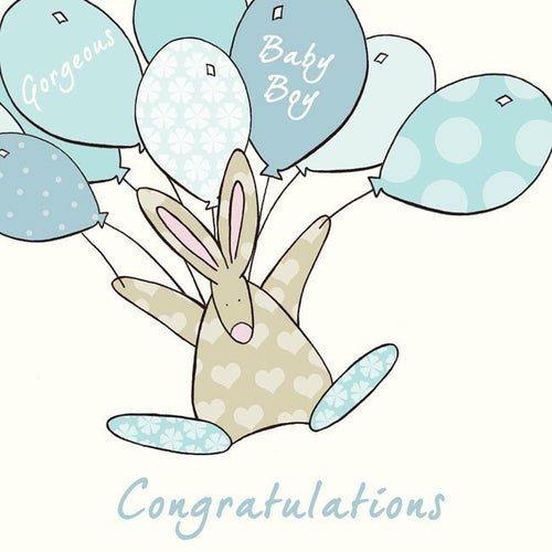 Congratulations- Blue New Baby card