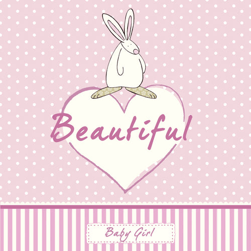 Beautiful - Pink New Baby card