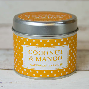 Coconut & Mango Polkadot Tin Candle