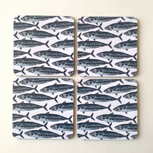Load image into Gallery viewer, Mackerel Design Coasters