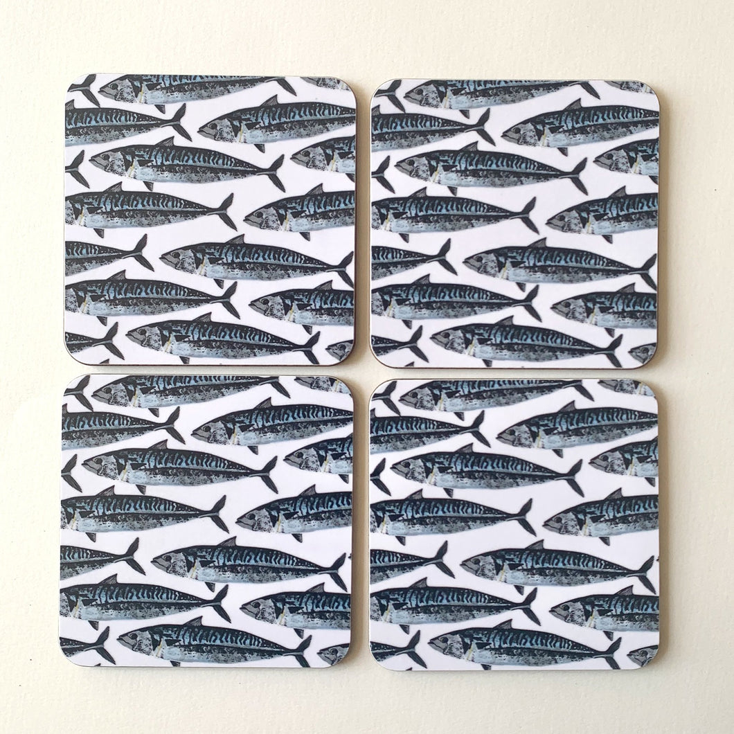 Mackerel Design Coasters - single