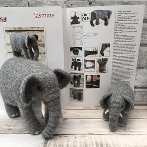 Jasmine the Elephant  Knit2Felt kit