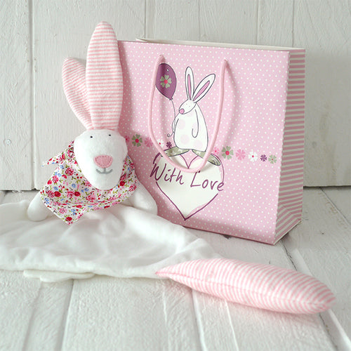 Rufus Rabbit Baby girl comforter