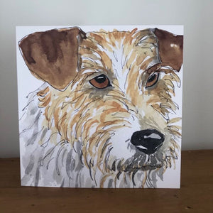 Terrier Design Greeting Card