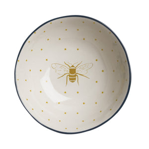 Stoneware Bee Design Dish