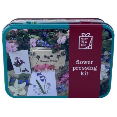 Flower press in a Tin