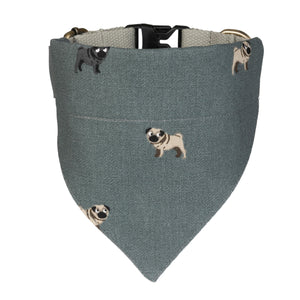 Pug dog collar-neckerchief