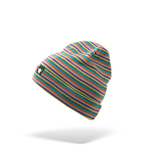 Beanie stripe multi coloured hat