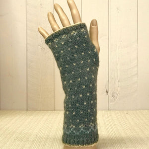 Fairisle wrist warmers knitting kit