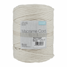 Load image into Gallery viewer, Macrame cord 100mtrs x 4mm Natural