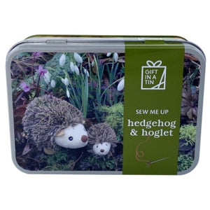 Hedgehog sewing kit in a Tin