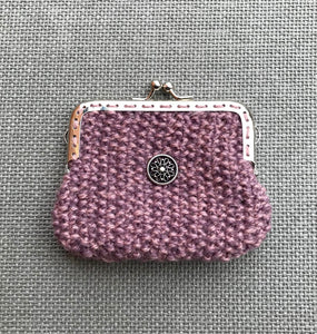 Moss stitch purse - knitting kit